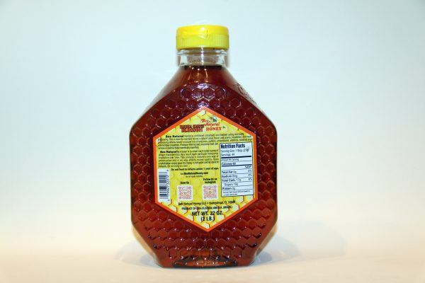 Bottle of Orange Blossom Honey 32oz 2