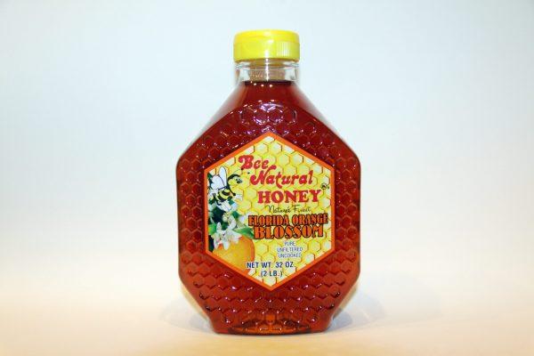 Bottle of Orange Blossom Honey 32oz 1