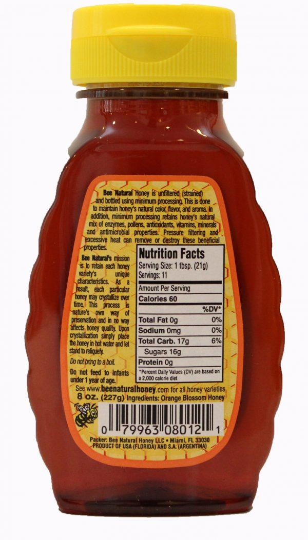 Case of 24 Orange Blossom Honey 8oz bottles 2