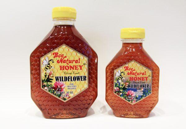 Wildflower Honey 16 & 32 oz. Bee Natural Honey BeeNaturalHoney.com Pure Wildflower Honey
