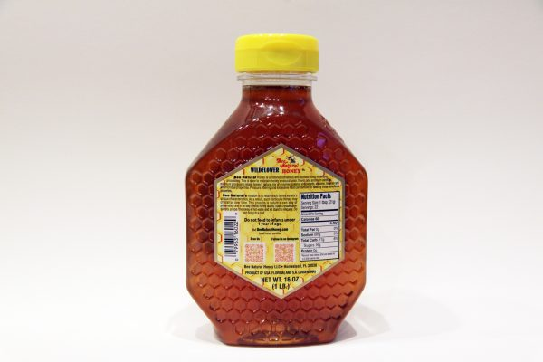 Case of 12 Wildflower Honey 16oz bottles 6