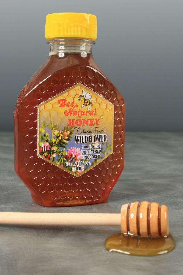 Case of 12 Wildflower Honey 16oz bottles 9