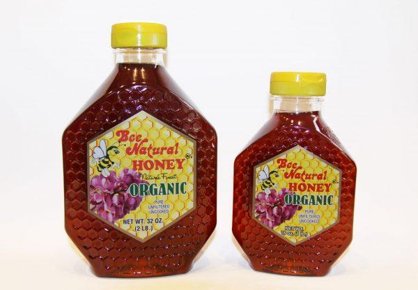 Organic Honey 16 & 32 oz Bee Natural Honey BeeNaturalHoney.com